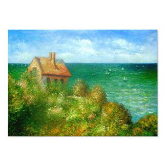 "Claude Monet: Cabaña de Fishermans en Varengeville Invitación 5"" X 7"""
