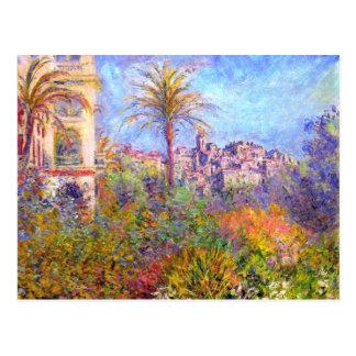 Claude Monet: Chalets en Bordighera Postal