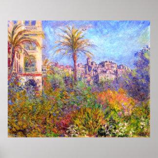 Claude Monet: Chalets en Bordighera Póster