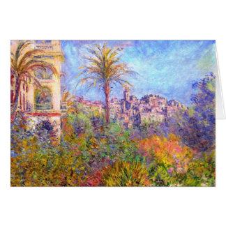 Claude Monet: Chalets en Bordighera Tarjeta De Felicitación