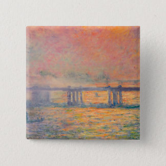 Claude Monet Charing Cross Bridge Button