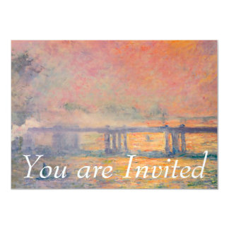Claude Monet Charing Cross Bridge Card