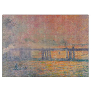 Claude Monet Charing Cross Bridge Cutting Board