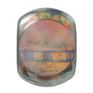 Claude Monet Charing Cross Bridge Jelly Belly Candy Jars