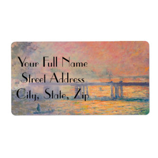 Claude Monet Charing Cross Bridge Label