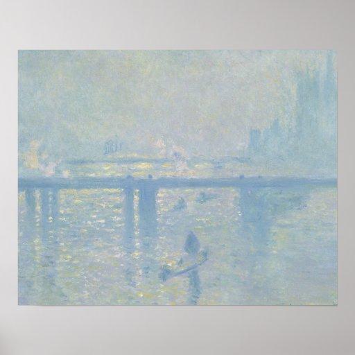 Claude Monet - Charing Cross Bridge Poster