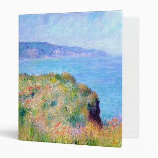 Claude Monet: Cliff Near Pourville 3 Ring Binder