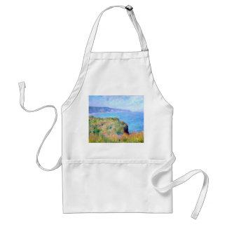 Claude Monet: Cliff Near Pourville Adult Apron