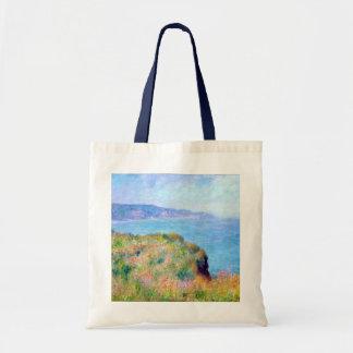 Claude Monet: Cliff Near Pourville Budget Tote Bag