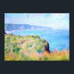 """Claude Monet: Cliff Near Pourville Canvas Print<br><div class=""""desc"""">A beautiful classic landscape canvas print featuring a cliff near Pourville,  painted by the French impressionist painter Claude Monet.</div>"""