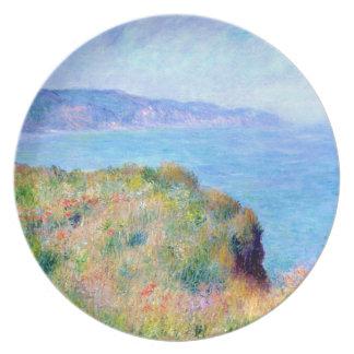 Claude Monet: Cliff Near Pourville Party Plates