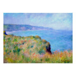 Claude Monet: Cliff Near Pourville Poster