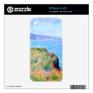 Claude Monet: Cliff Near Pourville Decals For The iPhone 4
