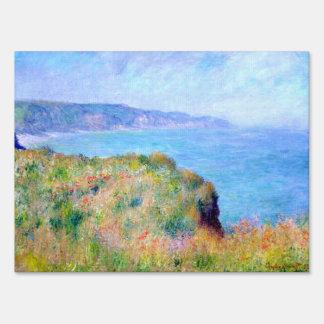Claude Monet: Cliff Near Pourville Yard Signs