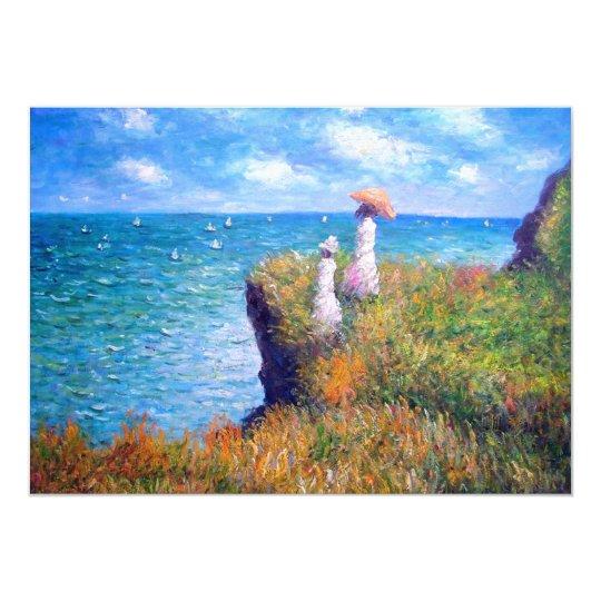 Claude Monet: Cliff Walk at Pourville Card