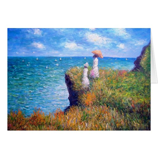 Claude Monet: Cliff Walk at Pourville Greeting Card
