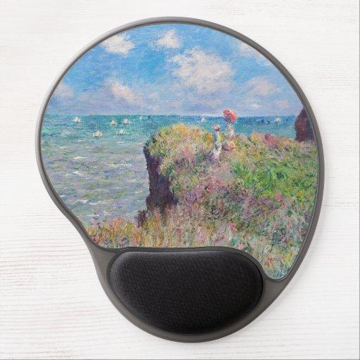 Claude Monet - Cliff Walk at Pourville Gel Mouse Pad