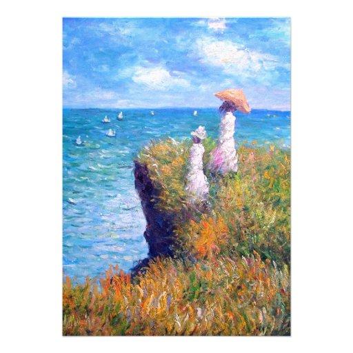 Claude Monet: Cliff Walk at Pourville Invite