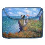 Claude Monet: Cliff Walk at Pourville Sleeve For MacBooks