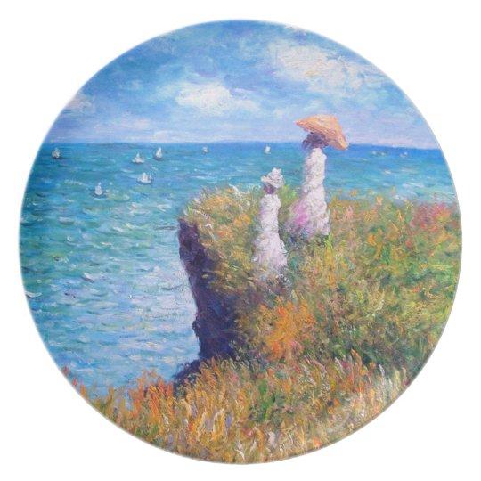 Claude Monet: Cliff Walk at Pourville Melamine Plate