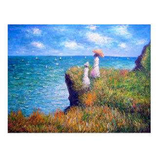 Claude Monet: Cliff Walk at Pourville Postcard
