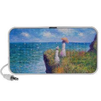 Claude Monet: Cliff Walk at Pourville iPod Speaker