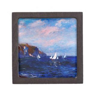 Claude Monet-Cliffs and Sailboats at Pourville Gift Box