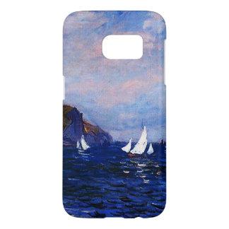 Claude Monet-Cliffs and Sailboats at Pourville Samsung Galaxy S7 Case