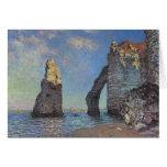 Claude Monet - Cliffs at Etretat Greeting Cards