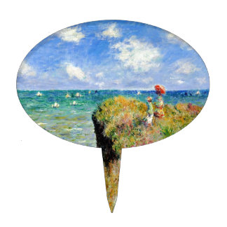 Claude Monet Clifftop Walk Oval Cake Toppers