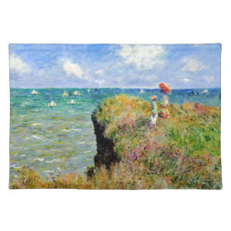 Claude Monet Clifftop Walk Cloth Placemat