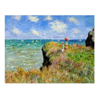 Claude Monet Clifftop Walk Postcard