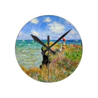 Claude Monet Clifftop Walk Round Clock