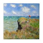 """Claude Monet Clifftop Walk Tile<br><div class=""""desc"""">Claude Monet Clifftop Walk</div>"""