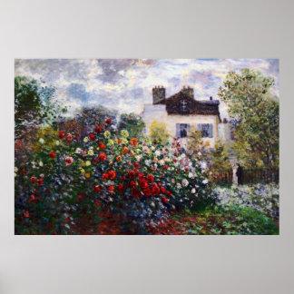 Claude Monet Corner of the Garden Fine Art Poster