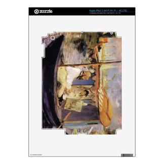Claude Monet dans son bateau atelier 1874 by Manet iPad 3 Decal