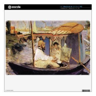Claude Monet dans son bateau atelier 1874 by Manet Skin For The MacBook Air
