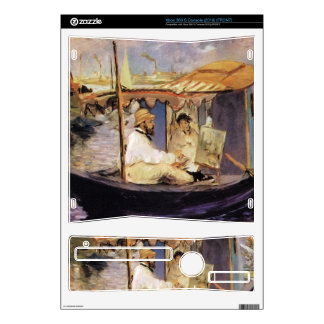 Claude Monet dans son bateau atelier 1874 by Manet Xbox 360 S Console Decal
