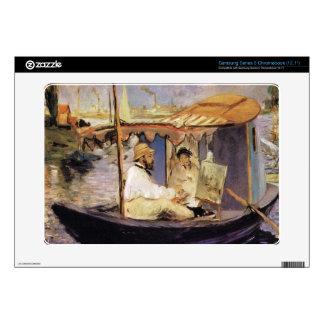 Claude Monet dans son bateau atelier 1874 by Manet Samsung Chromebook Skin