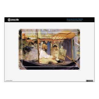 Claude Monet dans son bateau atelier 1874 by Manet Skins For Motorola XOOM
