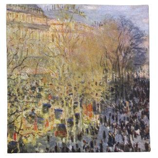 Claude Monet - DES Capucines del bulevar en París Servilletas De Papel