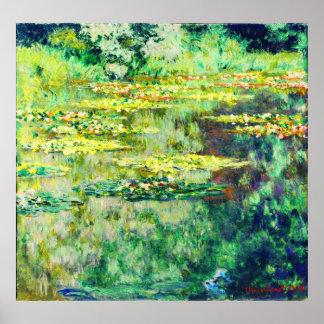 Claude Monet - DES Nympheas del agua Lillies - de  Póster