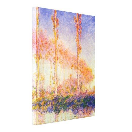 Claude Monet - efecto de viento sobre árboles Lona Estirada Galerías