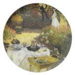 Claude Monet: El almuerzo Plato
