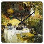 Claude Monet: El almuerzo Reloj