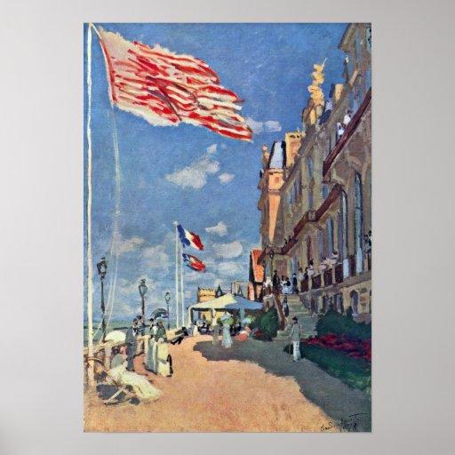 Claude Monet - el DES Roches Noires del hotel Poster