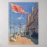 Claude Monet - el DES Roches Noires del hotel Póster