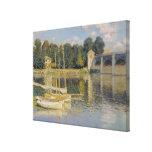 Claude Monet el   el puente en Argenteuil, 1874 Impresión En Lienzo