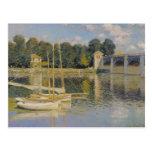 Claude Monet el   el puente en Argenteuil, 1874 Postales