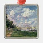 Claude Monet el | el puerto deportivo en Adorno Navideño Cuadrado De Metal